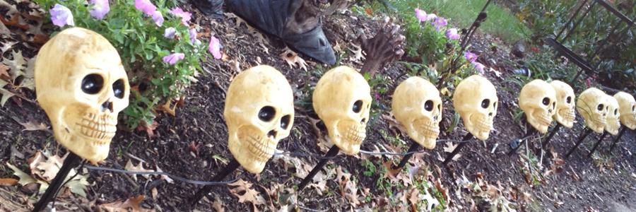 Boule en polystyr ne d corations ext rieures pour halloween for Jardin halloween